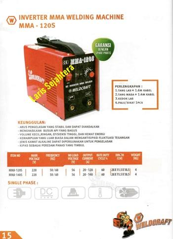 Jual-Mesin-Las-Listrik-Weldcraft-MMA-120A