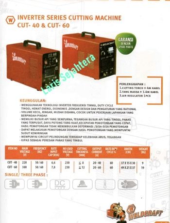 Jual-Mesin-Plasma-Cutting-CUT-60-Weldcraft